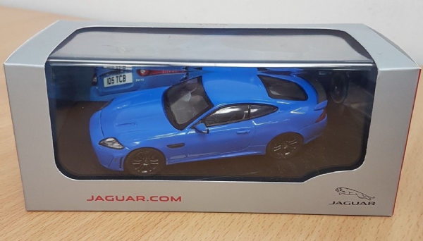 Genuine Jaguar XKR-S 1:43 Scale Diecast Model In French Racing Blue